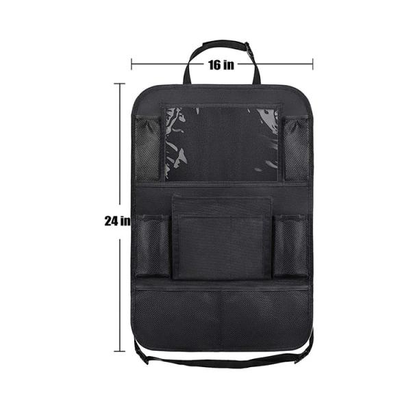 Universal iPad-hållare för bilens baksäte med flera fack, 1-p...
