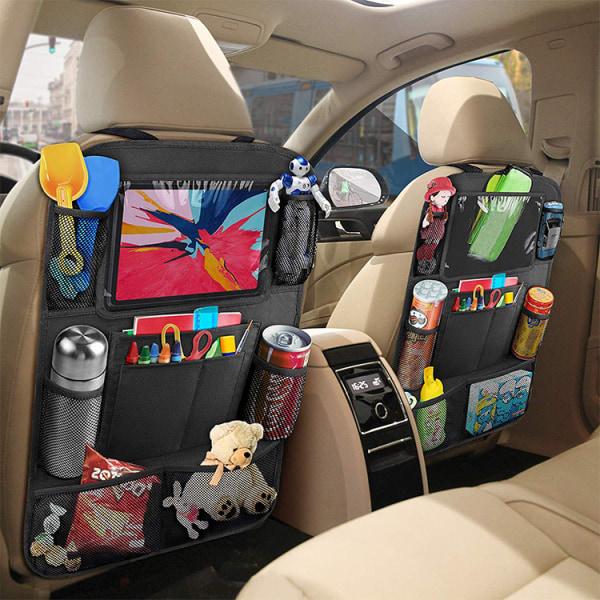 2-PACK Universal iPad-hållare för bilens baksäte, flera fack