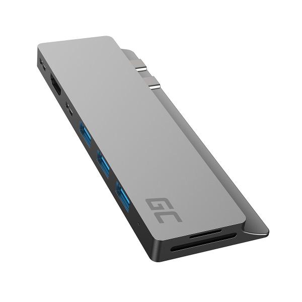 Green Cell 8-i-1 Hubb Adapter till Macbook, kortläsare, USB-C