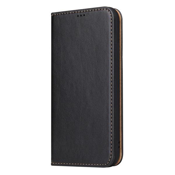 Läderfodral med ställ/kortplatser, iPhone XR, svart