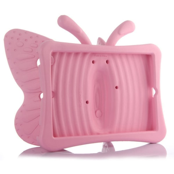 Fjärilsformat barnfodral till iPad Air/Air 2/Pro 9.7/9.7 rosa