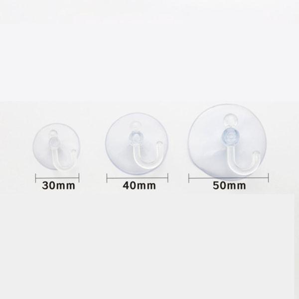 10st Badrumsvägg Transparent Sugkopp Krokhängare 3cm