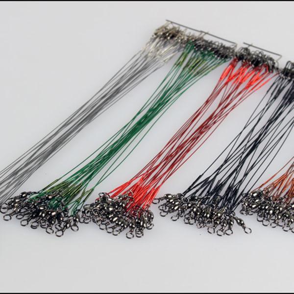 10st Fiske Wire Leaders Flätad spår Spinning Rigs Line