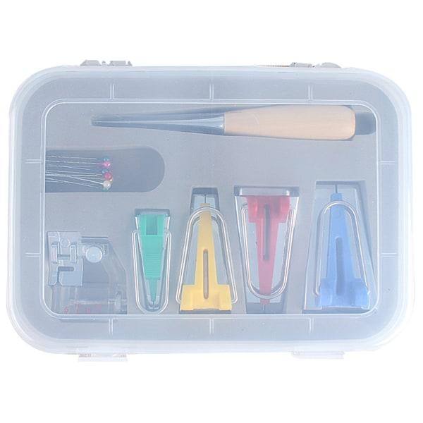 16st Multifunktionellt tyg Bias Tape Maker Set Tool Sewing Maker