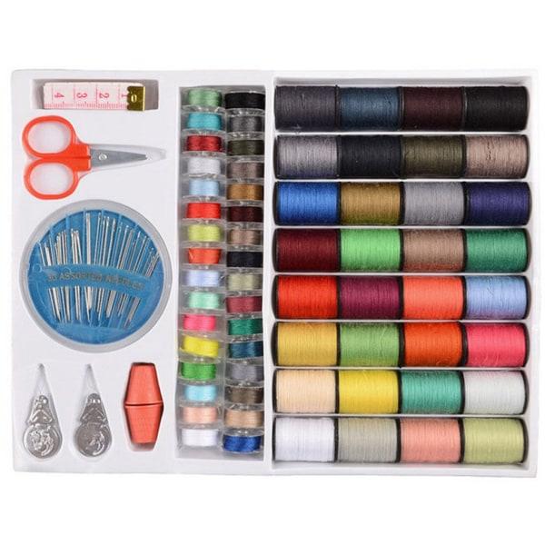 1 uppsättning olika färger sömtrådar Set verktyg för sömnad