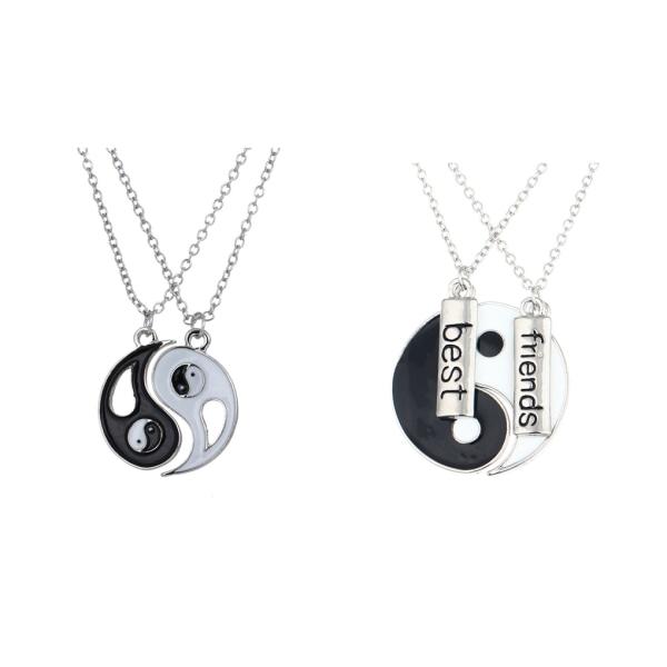 2st Yin Yang hänge Tai Chi par vänskap halsband Bagua