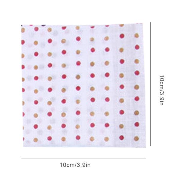 50st Dot Sömnadstyg Bomullsblandning Slumpmässigt mönster 10 * 10cm