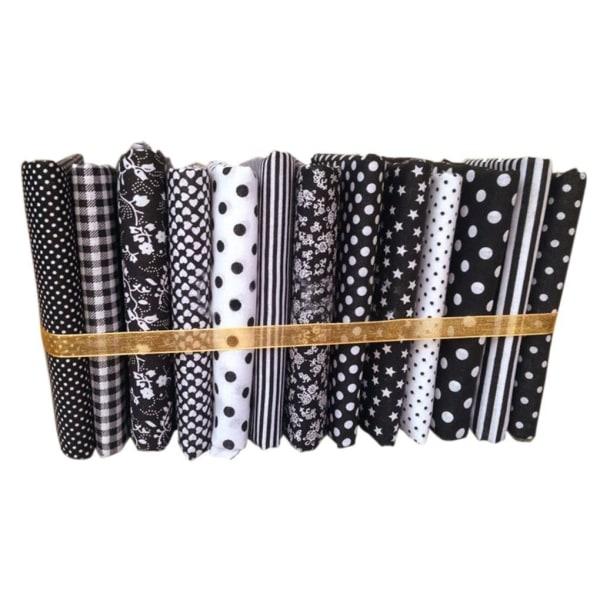 50x50cm svart serie bomullssömnad handarbete DIY lapptyg