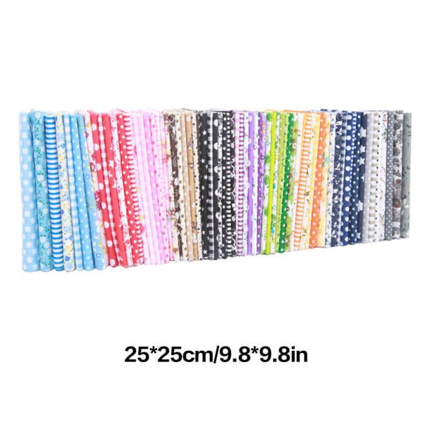 56st handgjord bomullspatchwork tygfärg slumpmässig