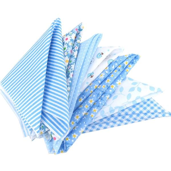 7st Blå Serien Bomullsduk Blomma Sömaterial 25 * 25cm 7pcs 25*25cm