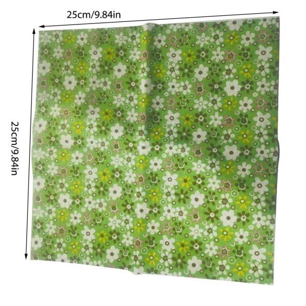 7st bomullspatchwork tyg blommigtryckt fyrkantiga buntar hantverk