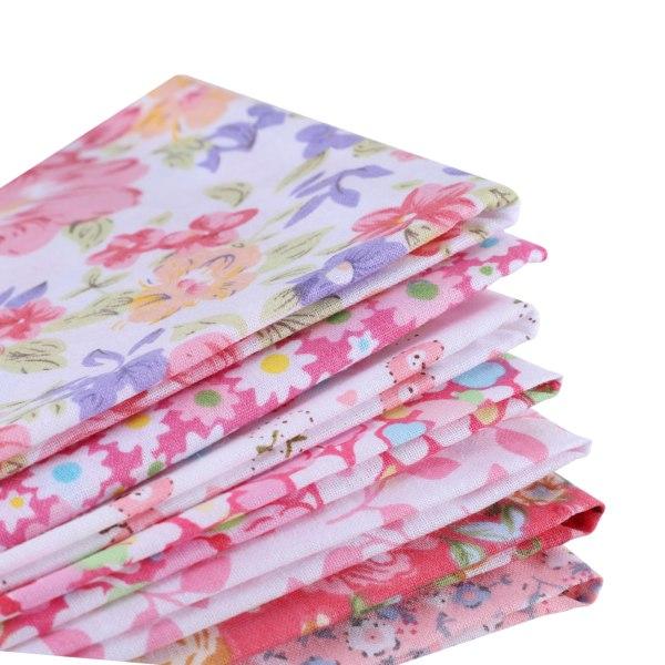 7st / uppsättning Bomullssömnad Patchwork Textil Rosa Serie 25 * 25cm