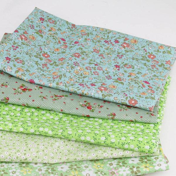 7st / uppsättning Grön serie tygtryckt lapptäcke sy 50x50cm