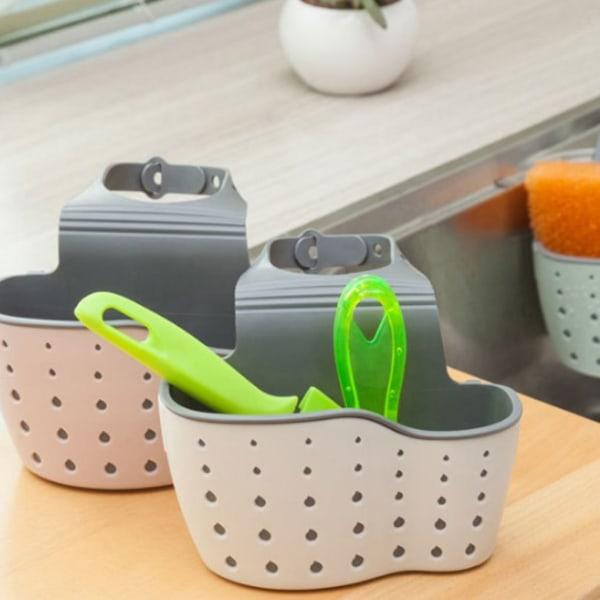 Justerbar Snap Sink svamp förvaringsställ hängande korghållare