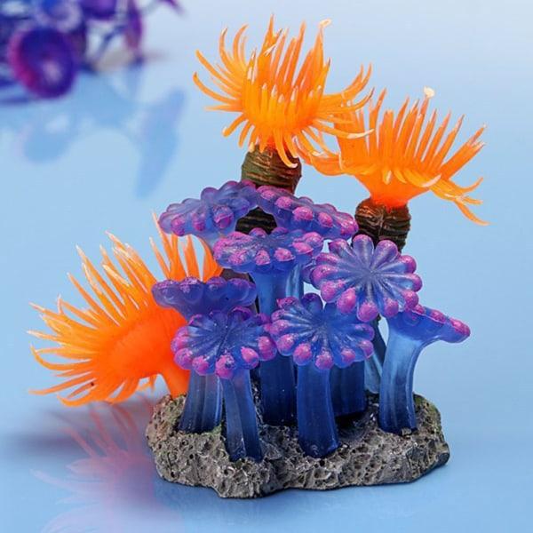 Akvarium konstgjord korall havsväxt prydnad akvarium dekor