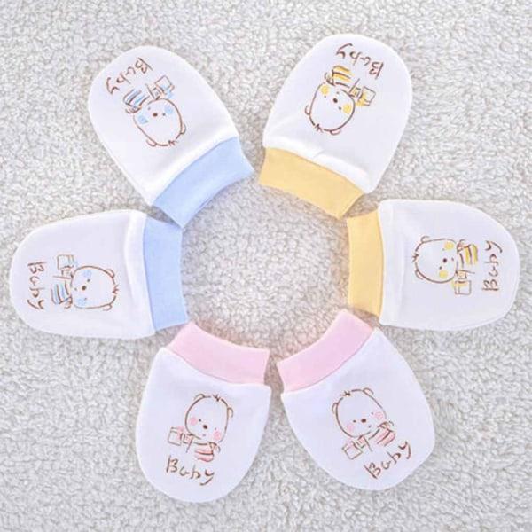 Baby nyfödda Anti Scratch vantar handskar Unisex varma handskar