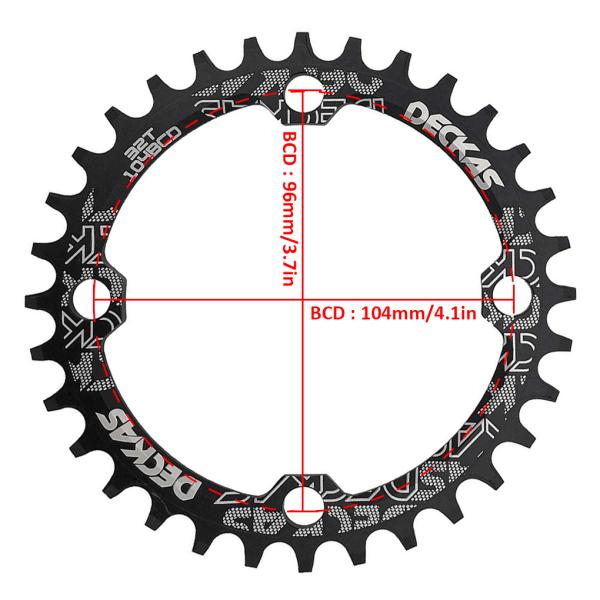 Bike Crankset Tandplatta Mountain Bicycle 104BCD Crankset Disc