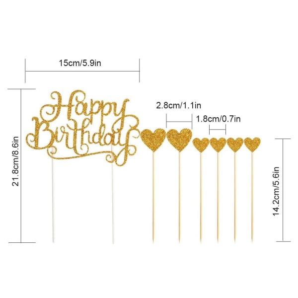 Cake Topper Glitter Letters dekorationskort födelsedagsfest dekor