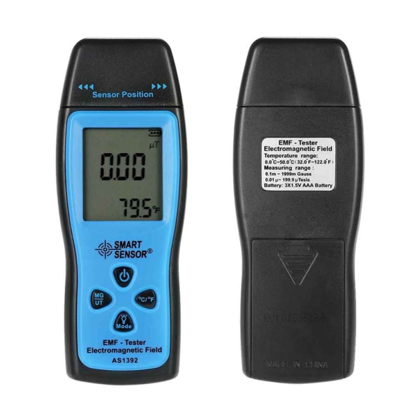 SMART SENSOR AS1392 Handhållen elektromagnetisk strålningsdetektor as the picture