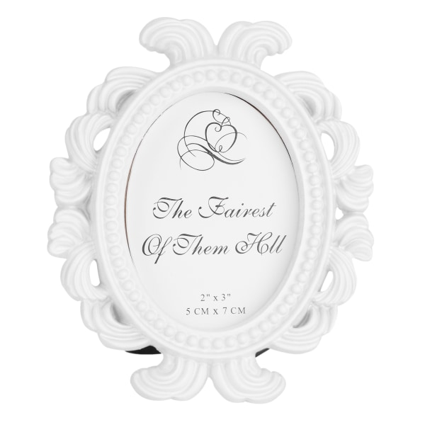 Blommig fotoram rund ram bildram bröllopsdekor