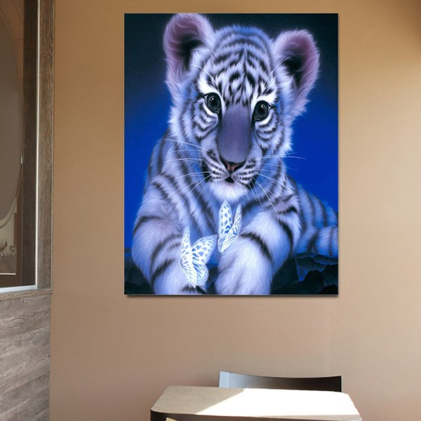 Little Tiger Rhinestone Painting Set Pictures Heminredning