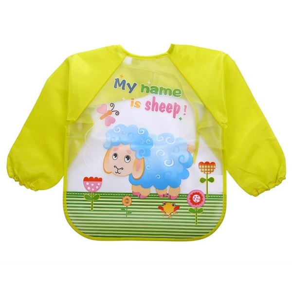 Lovely Baby Haklappar Spädbarn Långärmad Vattentät utfodring