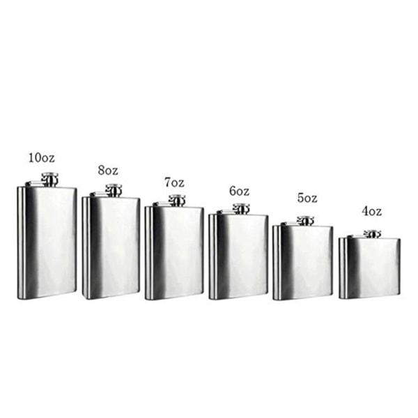 Mini Portable Flask Stainless Steel Liquid Bottle Pot 18 oz