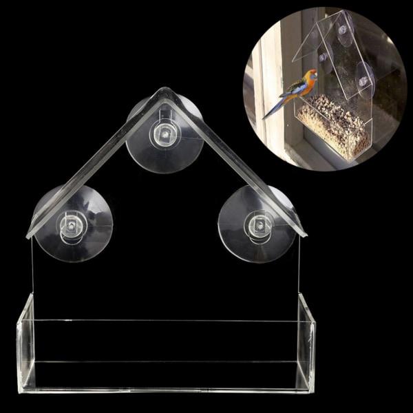 Fönster Fodermatare Avtagbar genomskinlig plast