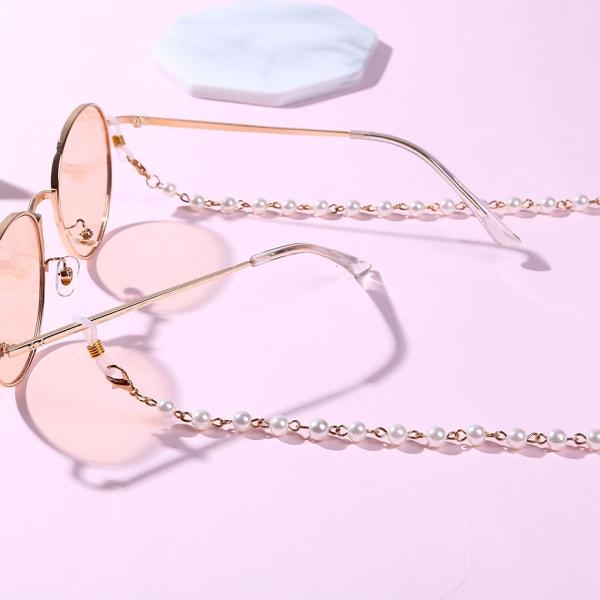 Kvinnor Glasögon Kedja Pärlpärlor Snodd Halkskyddssnör