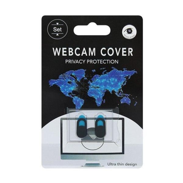 2X Skydd för webbkamera webcam cover Svart one size