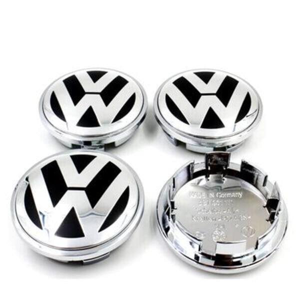 VW04 - 65MM 4-pack Centrumkåpor Volkswagen Silver one size