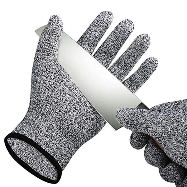 L Skyddshandske för kock HPPE  kategori 5 grå