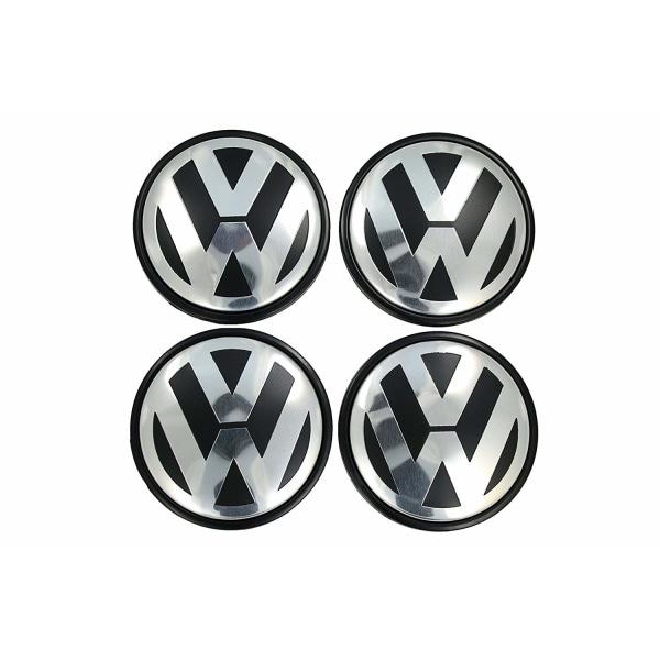 VW07 - 56MM 4-pack Centrumkåpor Volkswagen Silver one size