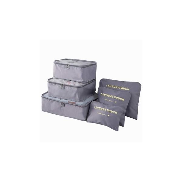 Grå 6st Insatser till resväskor grå one size