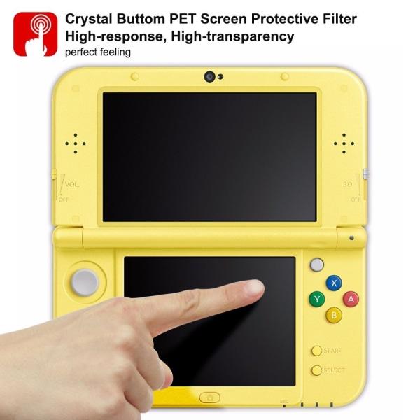 Nintendo 3DS New XL Härdat glas skärmskydd Screenprotector Transparent