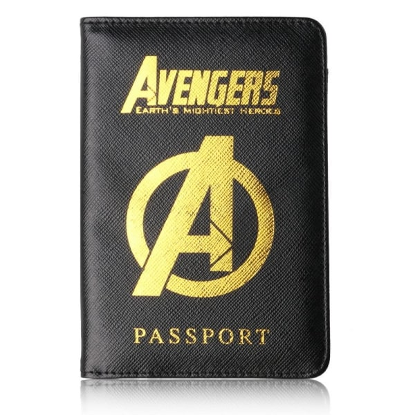 RFID Skydd - Passfodral Marvel Avengers Svart one size