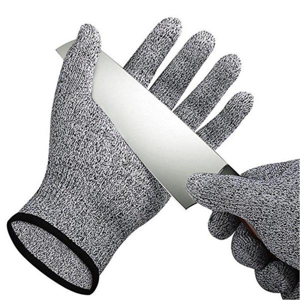 M Skyddshandske för kock HPPE  kategori 5 grå