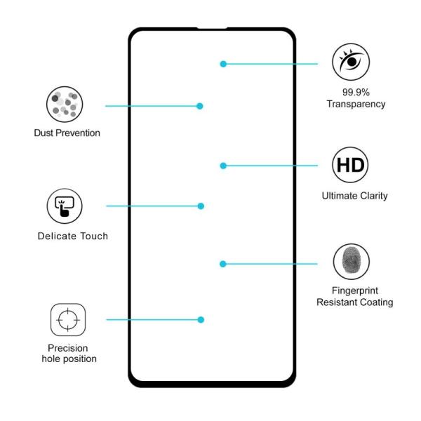Skärmskydd i Härdat Glas för Xiaomi Mi 9T/9T Pro Transparent one size