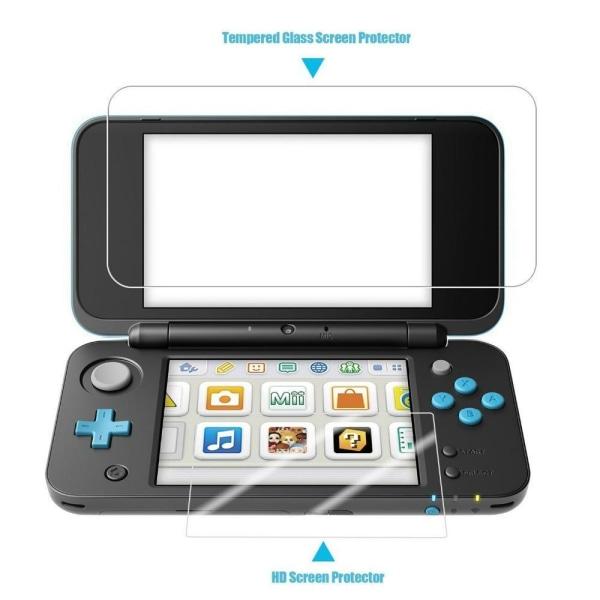 Nintendo 2DS XL Härdat glas skärmskydd Screenprotector Transparent
