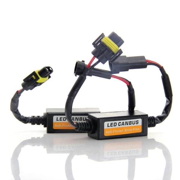 H7 LED Decoder Canbus Varning Headlight Canceller Svart