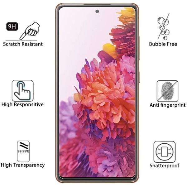 Härdat Glasskydd Samsung S20 FE Full Fit ,Fingerprint  Transparent one size