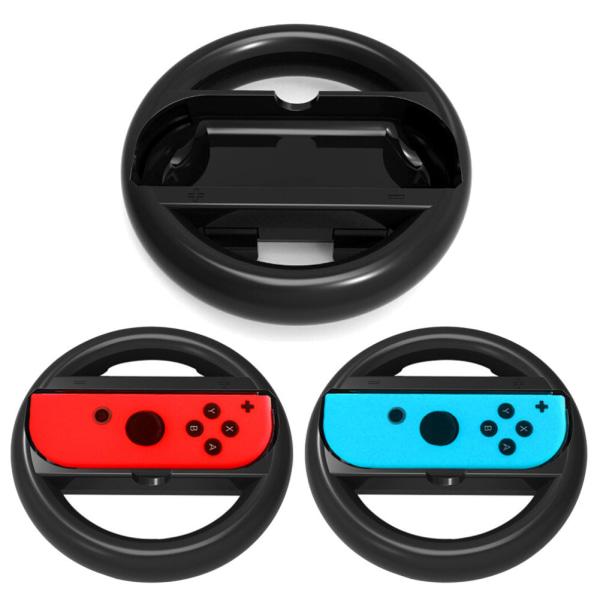 Svart Joy-Con Wheel 2st till Nintendo Switch Svart one size