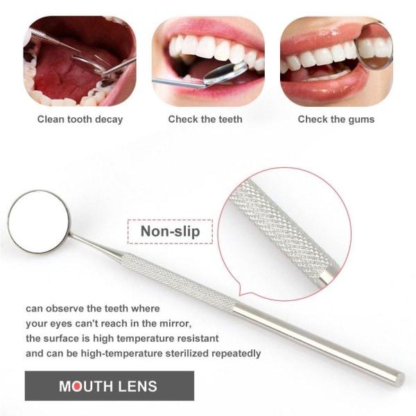 Tandverktyg av professionellt för tandhygien 6 delar med etui Silver