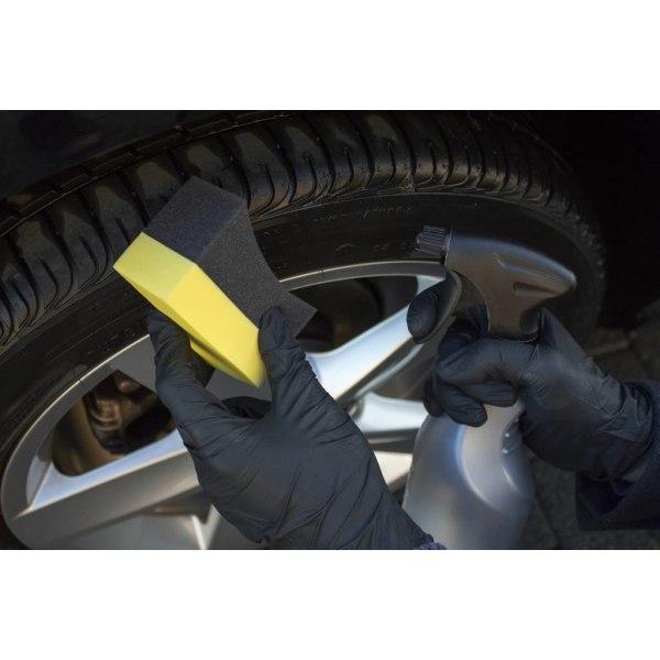 Tyre Applicator, Däck Svamp Perfekt till däckglans Svart one size