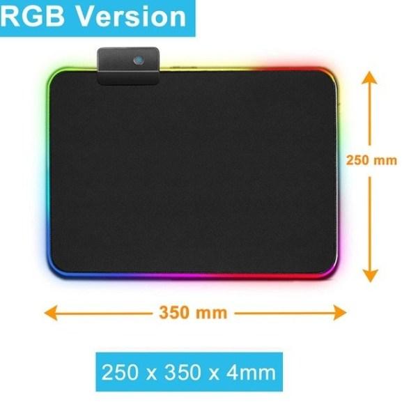 Gaming Musmatta med LED-ljus - 30x25cm - RGB