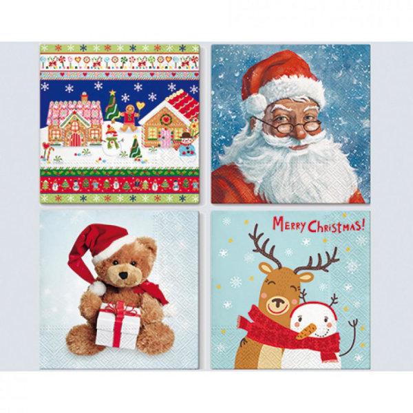 40 -pakkaus joululautasliinat / lautasliinat - joulu