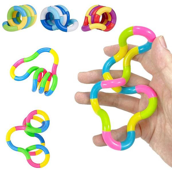 2-Pack - Tangle Twist Fidget Toys - Leksak / Sensory multifärg