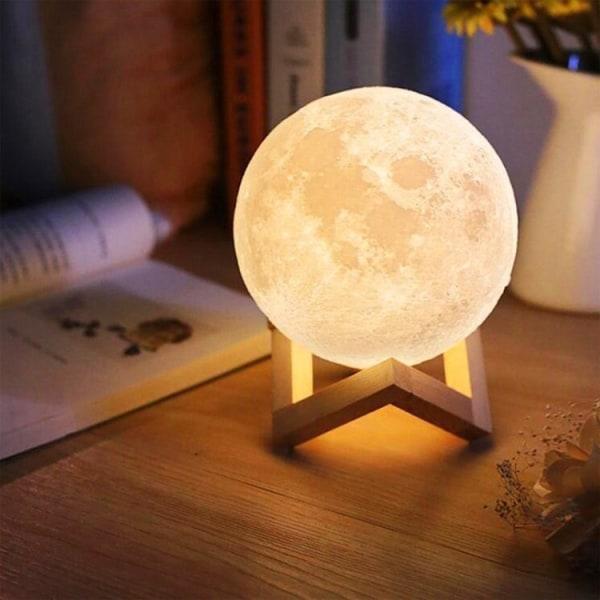 Lampe - Moon Lamp / Moon lampe - 15cm - Justerbar farve