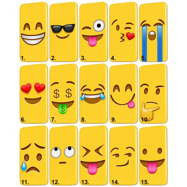 Samsung Galaxy S6 Edge Plus - Skal / Mobilskal Emoji - 15 Motiv 1
