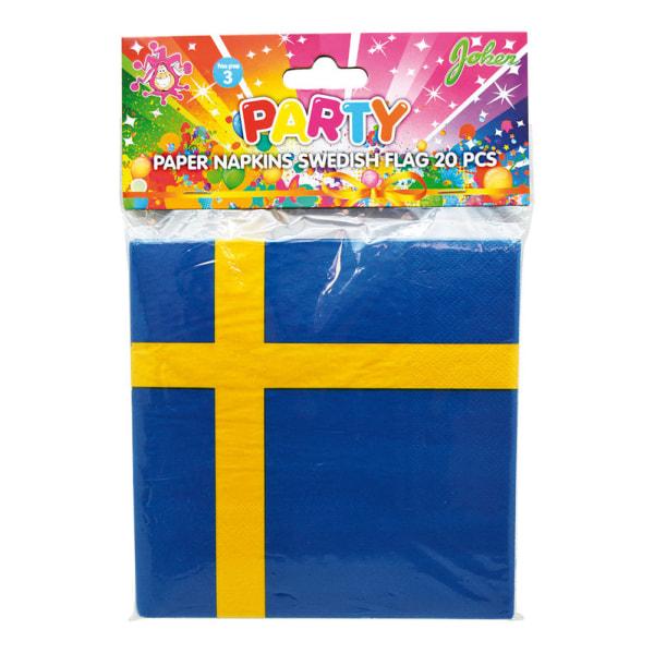 Servietter Swedish Flag / Sweden Flag - 20 -pack